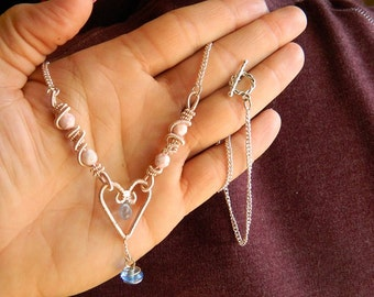 Coiled Wire Heart Necklace