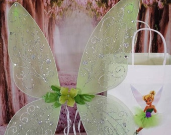 Tinkerbell wings,Fairy wings, tinkerbell accessories, fairy accessories, green fairy wings, tinker bell wings, fairy festival accessories