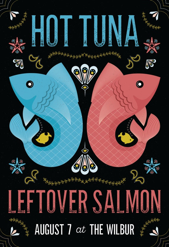 Hot Tuna & Leftover Salmon Poster // The Wilbur, Boston