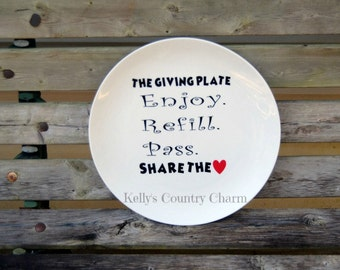 10.5in  Stoneware Giving Plate