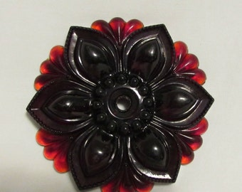 Cranberry Glass Medallion, Antique