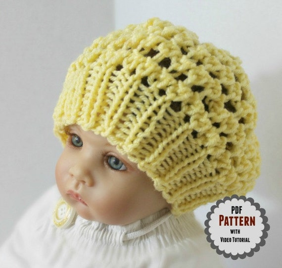 Loom Knit Baby Hat PATTERN with Video Tutorial Three Step