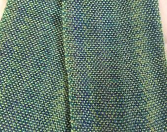 Handwoven Merino Wool Blend Scarf