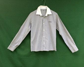 Vintage mens shirt / Mens button down shirt / Mens dress shirt / mens designer shirt / Mens  BIKKEMBERG  slim fit mens shirt