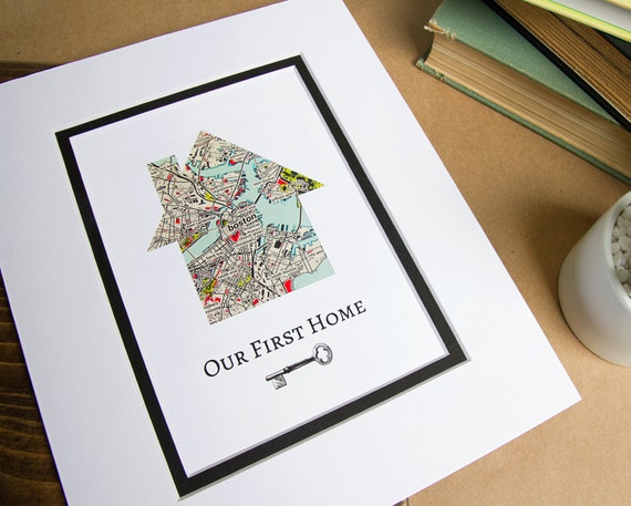 Our First Home Personalized Home Map W Key First Home