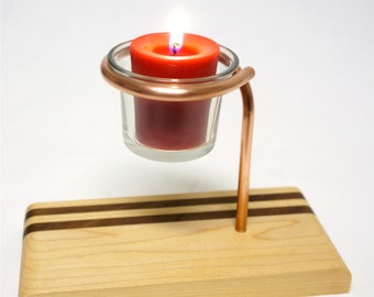 Votive Candle Holder Made of Maple and Black Walnut