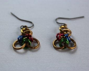 Flower Chain Mail Earrings