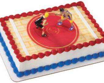 High School Wrestling Cake Topper/ Wrestler Cake Topper/ Wrestling Cake Topper/ Wrestling Highschool Team Cake Topper