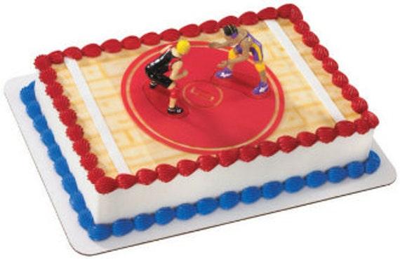High School Wrestling Cake Topper Wrestler Cake Topper