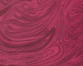 100 percent cotton fabric/red/marbled/crafts/quilting/apparel/