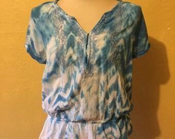 Blue Shibori Summer Blouse
