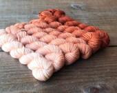 TERRACOTTA 240 yard mini-skein set, High Twist Sock, superwash, merino, fingering weight, sock yarn, gradient, ombre