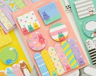 animal sticky notes, Cute sticky notes, animal notepad, kawaii sticky notes, pocket sticky note, desktop sticky notes