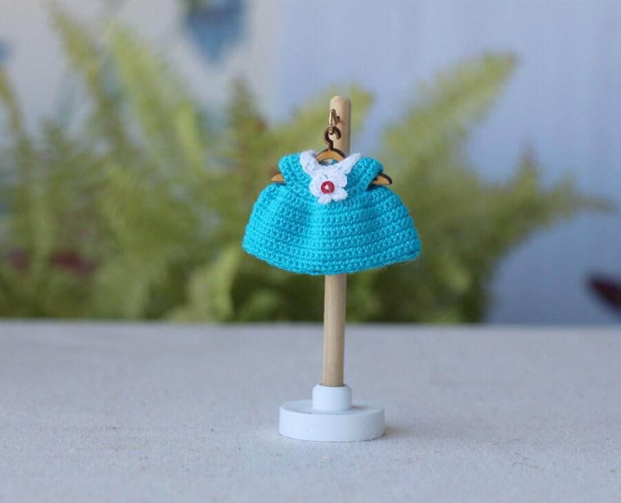 2 inch mini doll dress. Crochet dollhouse baby doll by ...