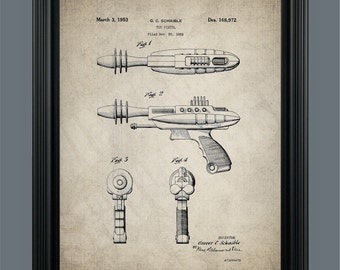 Vintage Toy Ray Gun Patent Print Poster - Instant Download - Ready to Print - #014