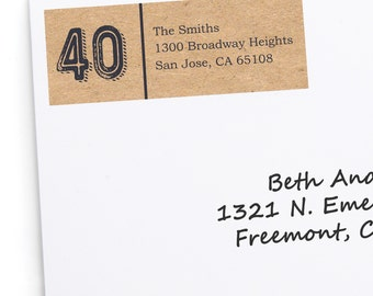 40th Milestone Birthday - Aged to Perfection Address Labels - Personalized Return Address Sticker - 30 Count