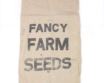 Vintage Feed sack Fancy Farm Seeds