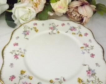 """Cake Plate,  Vintage Royal Stafford """" Violets , Pompadour"""" Cake Plate"""