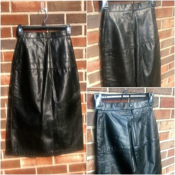 amazing edgy wilsons leather skirt 4
