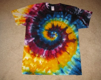 tie dye, rainbow shirt, hippie clothing, Grateful dead, tie dye shirt