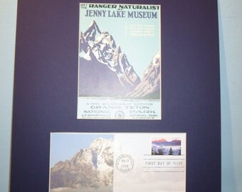 The National Park Service -  Grand Teton National Park & First Day Cover of its own stamp