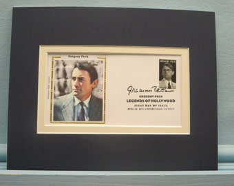 Hollywood Legend - Oscar winner Gregory Peck & First Day Cover of his own stamp