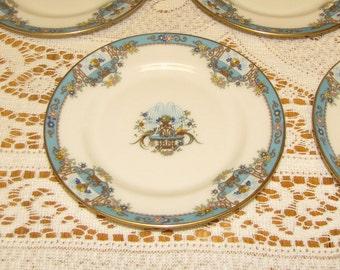 Lenox Fountain Bread Plates Art Deco Dinnerware Set of Three (3) Small Plates Vintage Elegant Dinner Ware Sets Circa 1920s