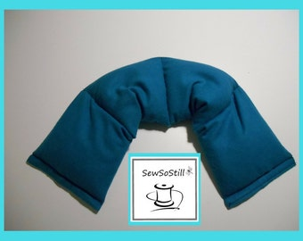 Rice Heating Pad, Microwavable Heating Pad, Neck Warmer, Teal, Solid Color, Sunny Heat Pack