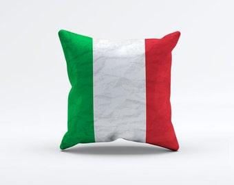 Flag of Italy Throw Pillow Cover 15 x 15 inch