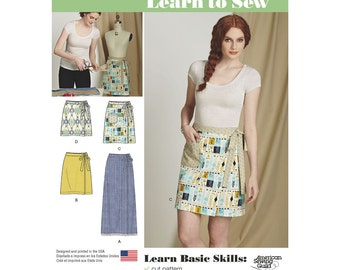 Simplicity Sewing Pattern 8133 Misses' Learn to Sew Wrap Skirts
