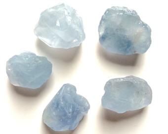 Celestite Rough stones 5 or 1 piece 1 inch