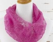 lacy mohair cowl // hand-knit neckwarmer // handmade circle scarf