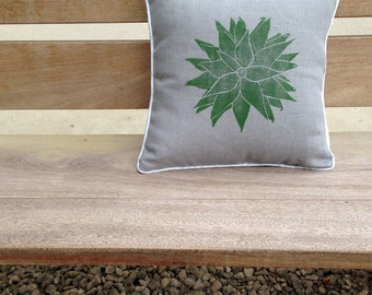 Grey Succulent Cushion