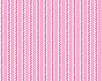 45'' Henry Glass & Co. Ric Rac Paddywack Pink Mini Ric Rac Flannel by the Yard 6464-22