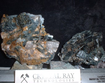 Geo Duo Curious intergrowth of black Pyroxene & the Same Crystals in Smokey Quartz