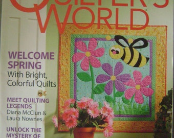 Quilter's World Instruction Magazine - April  2008