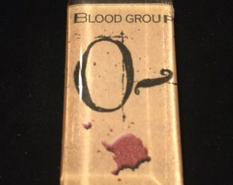 Creepy 0- Blood Type Necklace