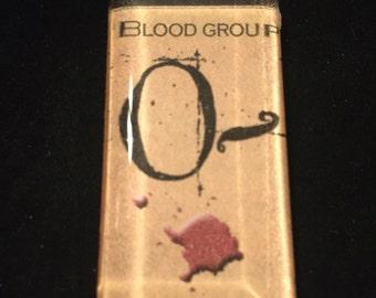 Creepy 0- Blood Type Necklace