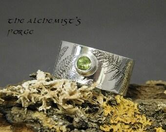Fern ring with Peridot setting