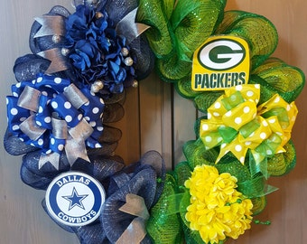 House Divided Team Wreaths - College and Professional Basketball and Football Team Wreaths