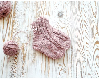 Knitted socks, baby - 3 / Вязаные носочки, детские - 3