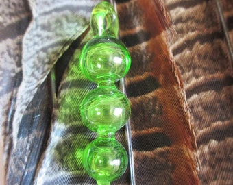 Transparent Triple Bubble Glass Pendant