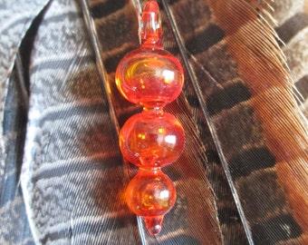 Transparent Triple Bubble Glass Pendant