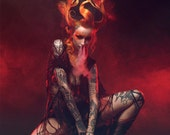 PRINT: Shelly d'Inferno by Pascal Latil, high quality matte A3 or A4 photo poster
