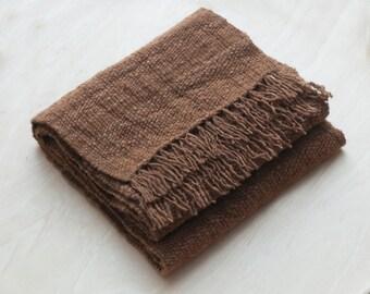 Dark dune - hand woven scarf