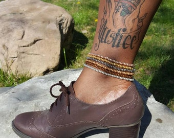 Metallic Stacked Anklets