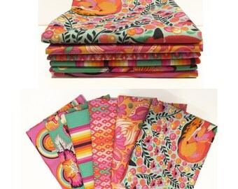 CHIPPER by Tula Pink for Free Spirit Fabrics - Fat Quarter Bundle - in Sorbet