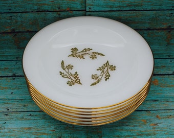 Federal Meadow Gold Soup Bowls - 22 K Gold Design - Set of 6