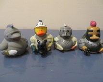 Special Medieval/Knight rubber ducks.- perfect for bride-to-be shower favors