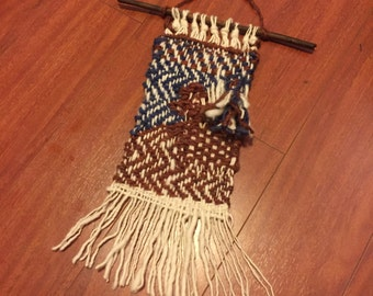 Woven Americana Wall Hanging or Door Hang